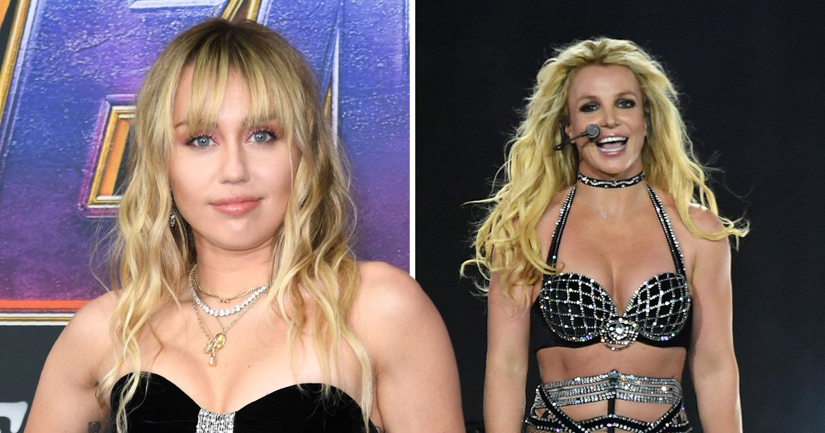 Miley Cyrus shouts 'free Britney' on stage after star denies she was being held in treatment facility against her will